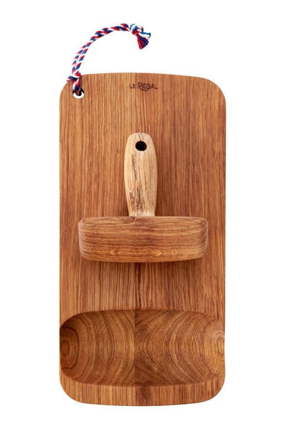 Planche à découper design avec pilon en bois