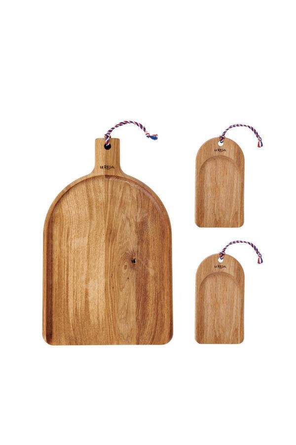 Lot de 3 planches design en bois pour présenter votre apéritif gourmand