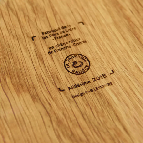 Each of these designer wooden products carries the Le Régal stamp on its back