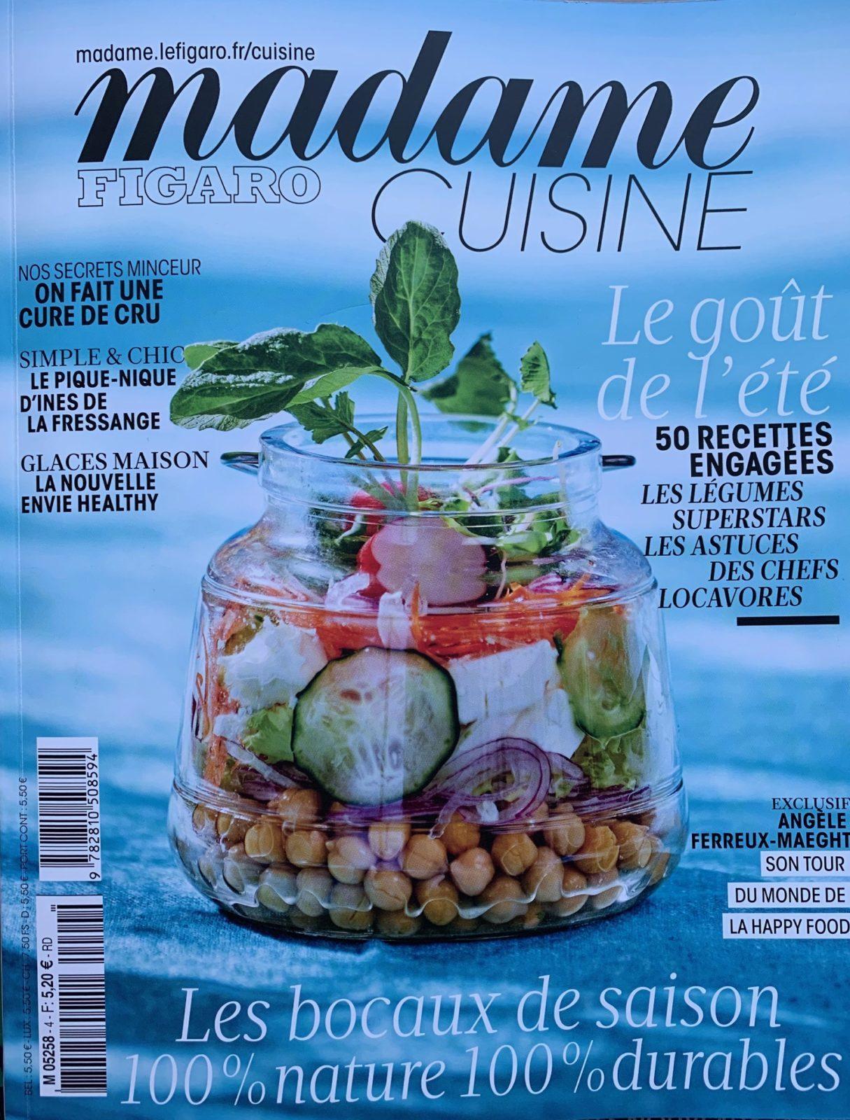Madame Figaro Cuisine – Juin 2019
